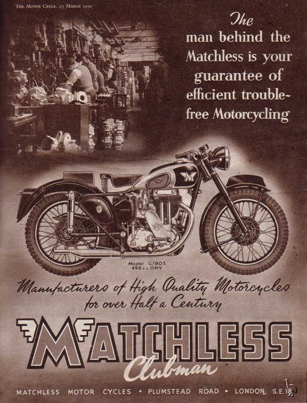 MOTOS PARA EL RECUERDO DE LOS ESPAÑOLES-http://3.bp.blogspot.com/_cxGXT7SSVdE/TFdkk-RCyTI/AAAAAAAAASM/eKx2-qGjyac/s1600/Matchless_1950_Clubman_Advert.jpg