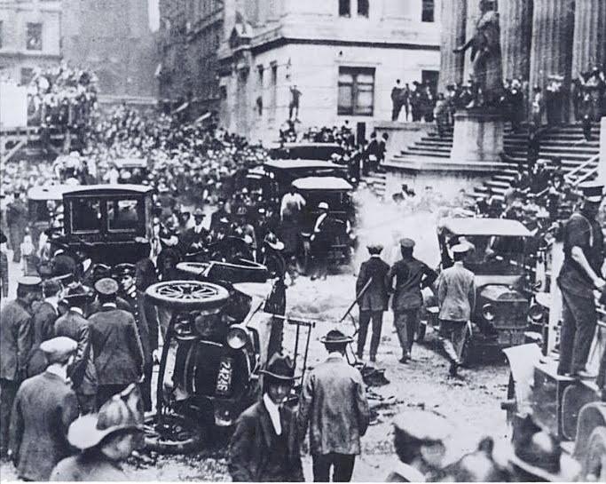 new york history geschichte wall street bombing 1920. Black Bedroom Furniture Sets. Home Design Ideas