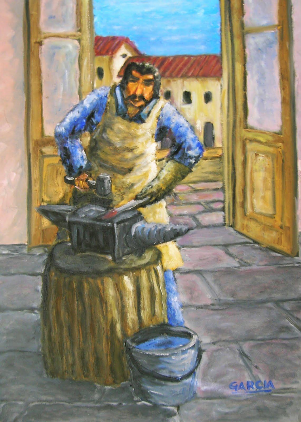 gabriela garcia pinturas Hombres Trabajando