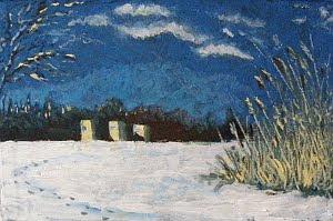 byannick 2010, frozen, oil on board 12x8in