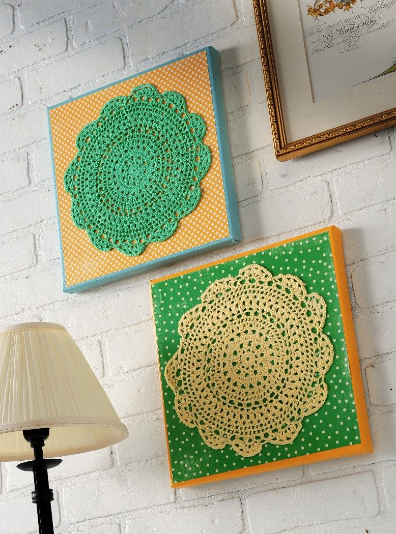 Make Your Own Doily Wall Art Mod Podge Rocks