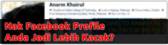 facebook profile lebih kacak
