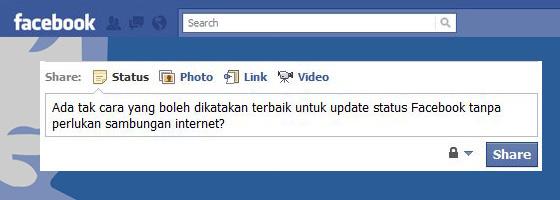 Update Status Facebook Secara Auto