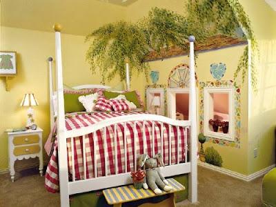 khusus cewek: dekorasi kamar tidur yang unik