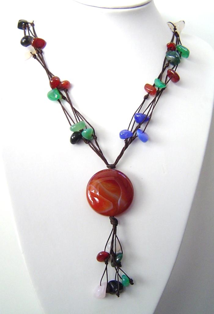e35d0aad1873 Collares con piedras y fornitura de plata  Mis diseños de Piedra de .