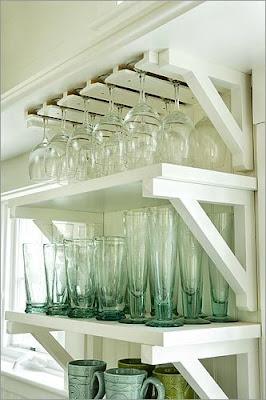 shell seaglass kitchen vignettes rh shellandseaglass blogspot com shelves for wine glasses shelving for glasses behind bar