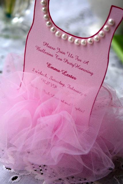 A Little Loveliness Ballerina Tutu Invitation