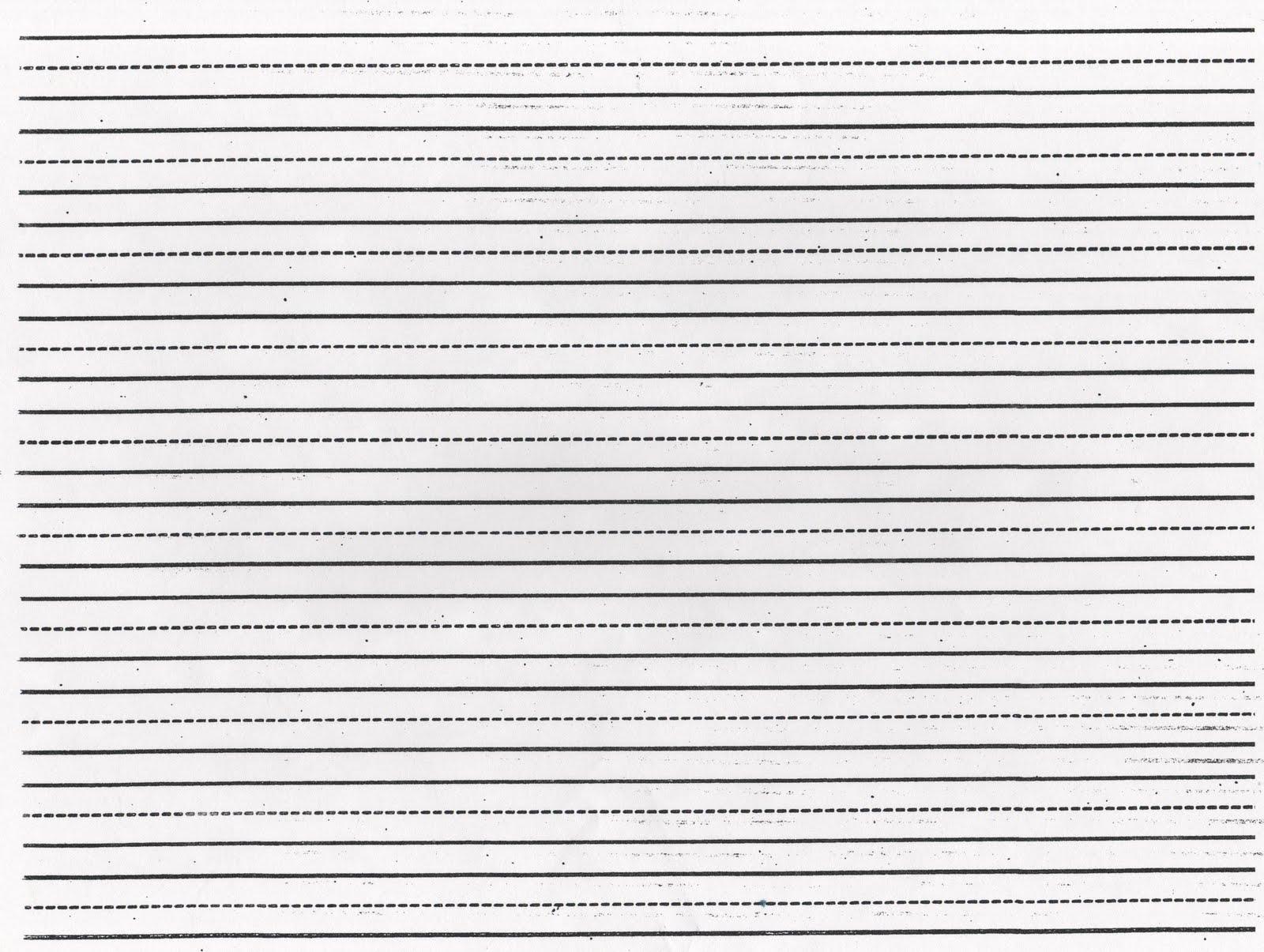 Large Lined Paper For Kindergarten