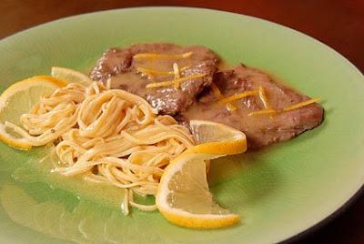 Rosmarino escalope de vitelo e taglioline tutto al limone 1 Linguini tutto al Limone 2 - >São Paulo Restaurant Week