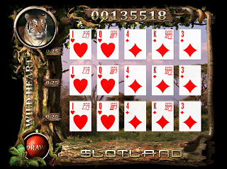Play flash version of WildHeart slot machine at Slotland Casino!