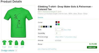 Buy Climbing T-shirt Deep Water Solo