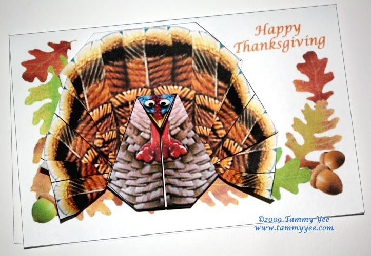 Origami N Stuff 4 Kids Thanksgiving Origami Turkey Card