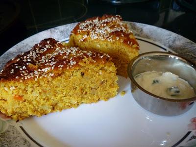 Ondhwa or handvoh Spicy Lentil Cake