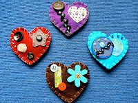 TUTORIAL GRATIS BROCHE CORAZON DE FIELTRO 10