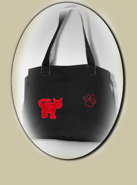 Cotton XXL bag with Red cat