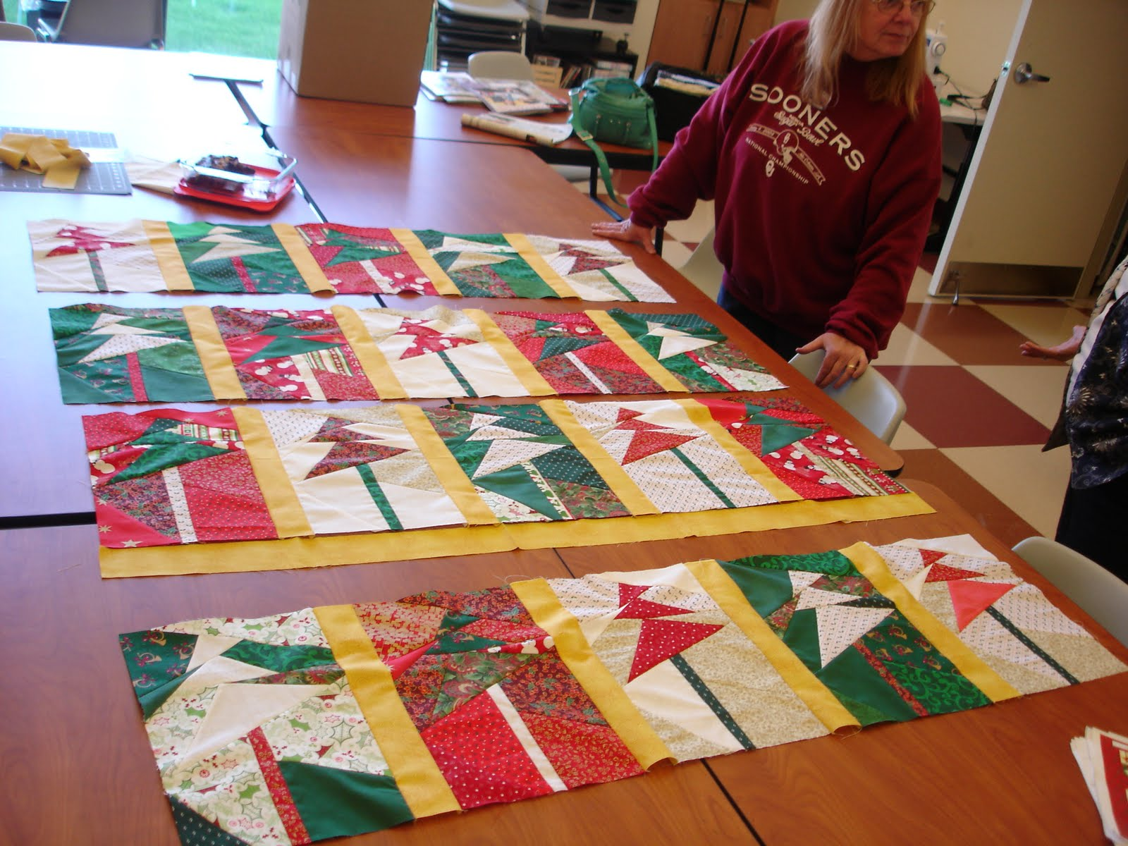Quilting And Carving Senior Center Quilt Class