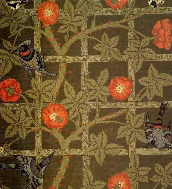 William Morris Trellis: Pre Raphaelite Art: William Morris