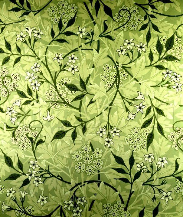 Pre Raphaelite Art William Morris Jasmine Wallpaper