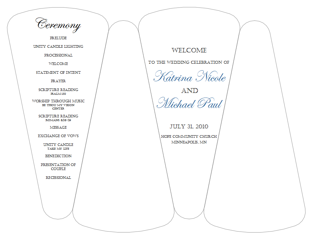fan wedding program templatePinclout.com | Templates and Resume ...