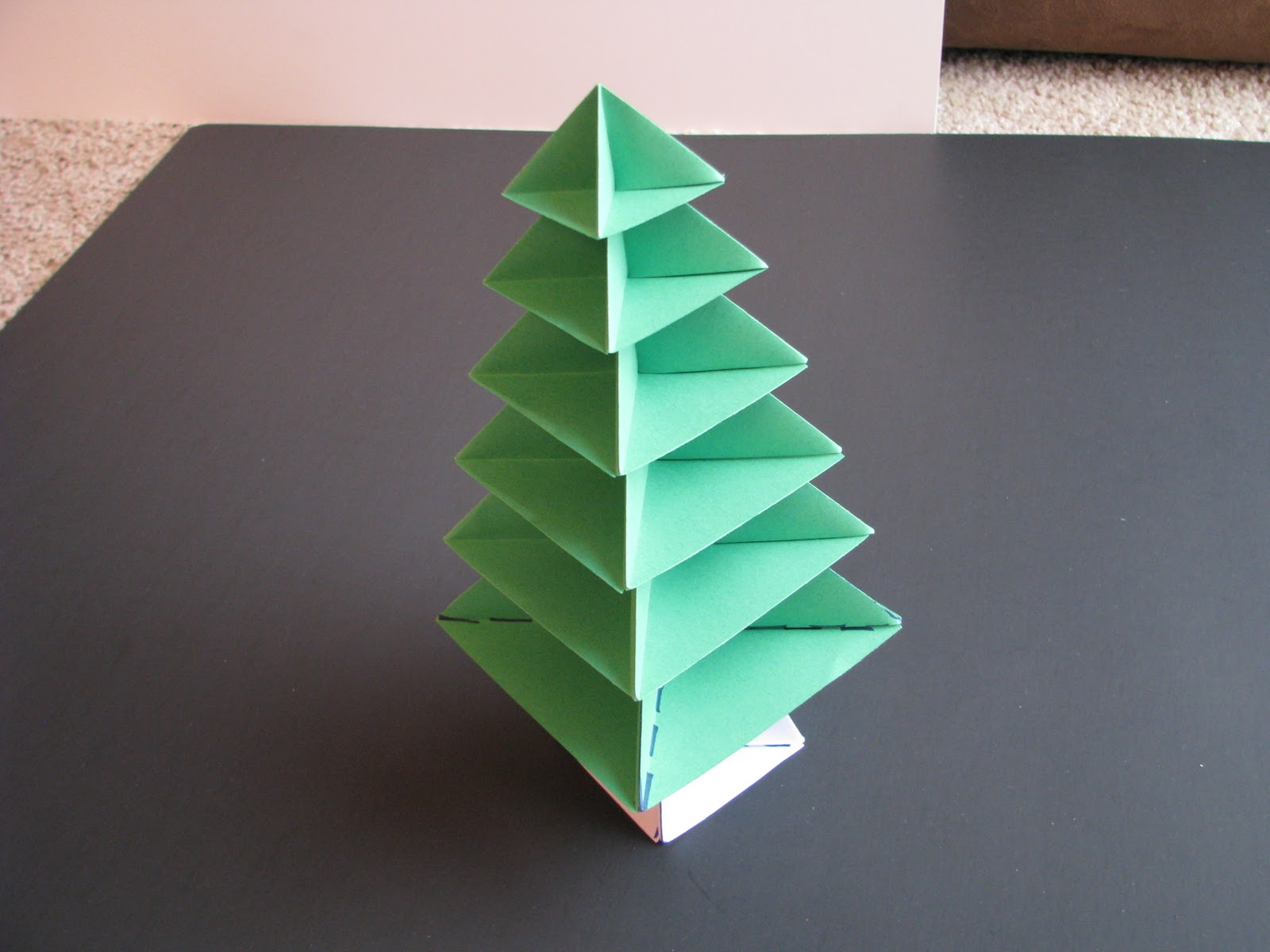 Origami Waterbomb Base | 1200x1600