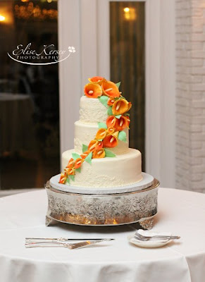 mango wedding cake cake walk mango calla wedding cake 17107