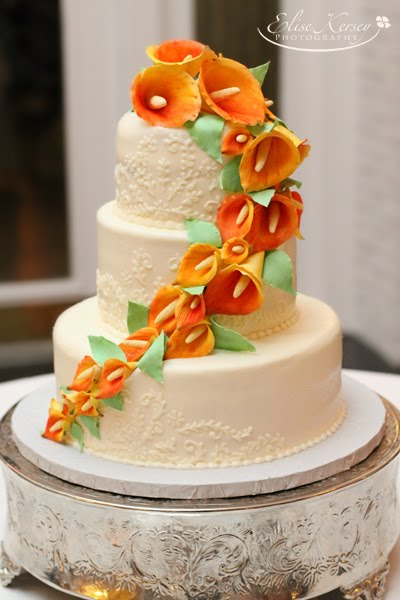 Cake Walk  Mango Calla Lily Wedding Cake mango calla lily buttercream embroidery wedding cake mango calla lily  buttercream embroidery wedding cake
