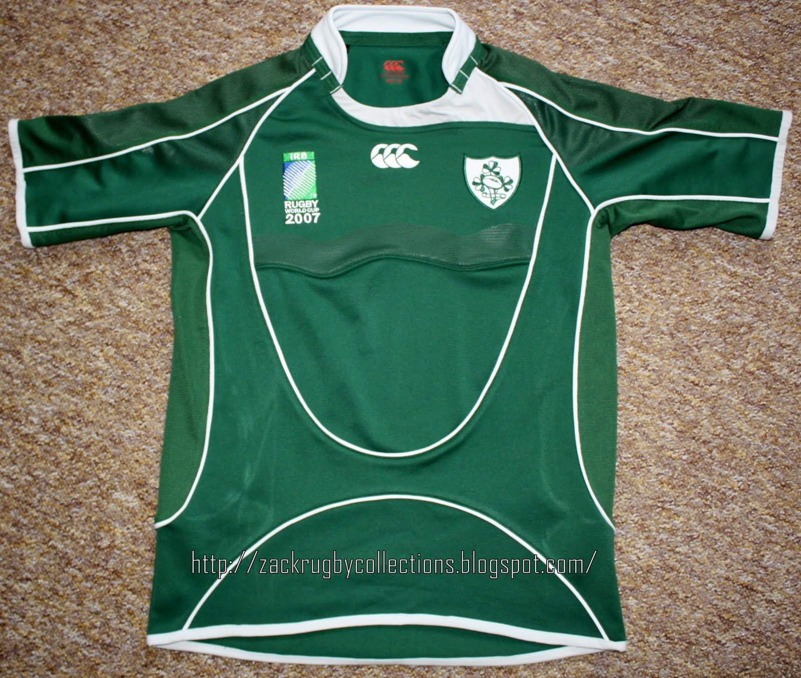 d89abd1ca22 Ireland Pro Rugby World Cup 2007 made by Canterbury. Official rugby jersey  released for the 2007 World Cup rugby season. Material: 100% Polyester.