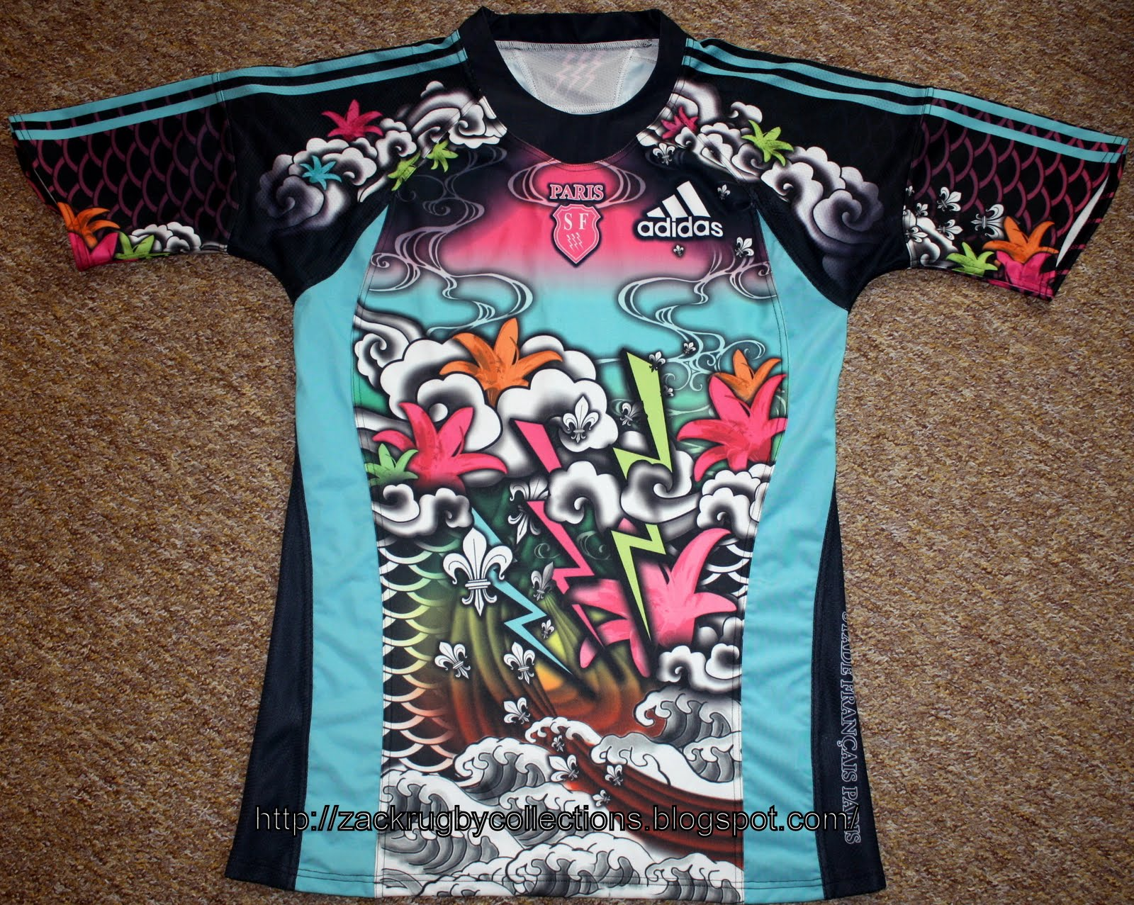 07e534c7908 ZackRugby Collections®: Stade Francais 2009/2010 3rd SS Rugby Jersey