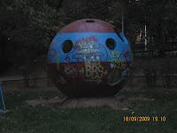 Parcul Floreasca: bila de piatră