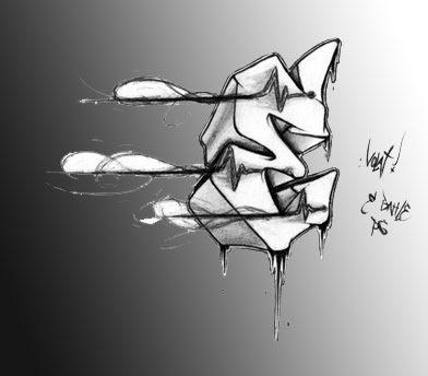 Graffiti On The Wall Design Graffiti Alphabets Letter E