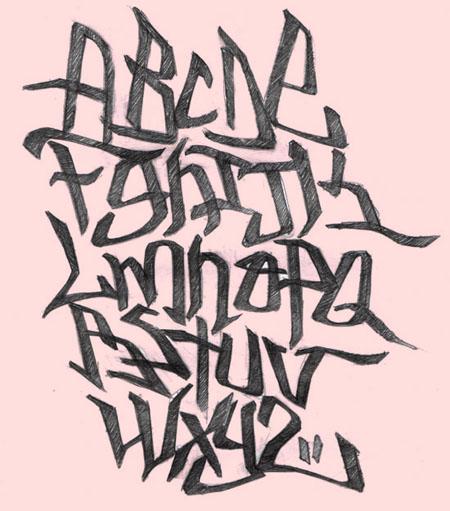 Full Graffiti: Graffiti Alphabets Letter Block Style