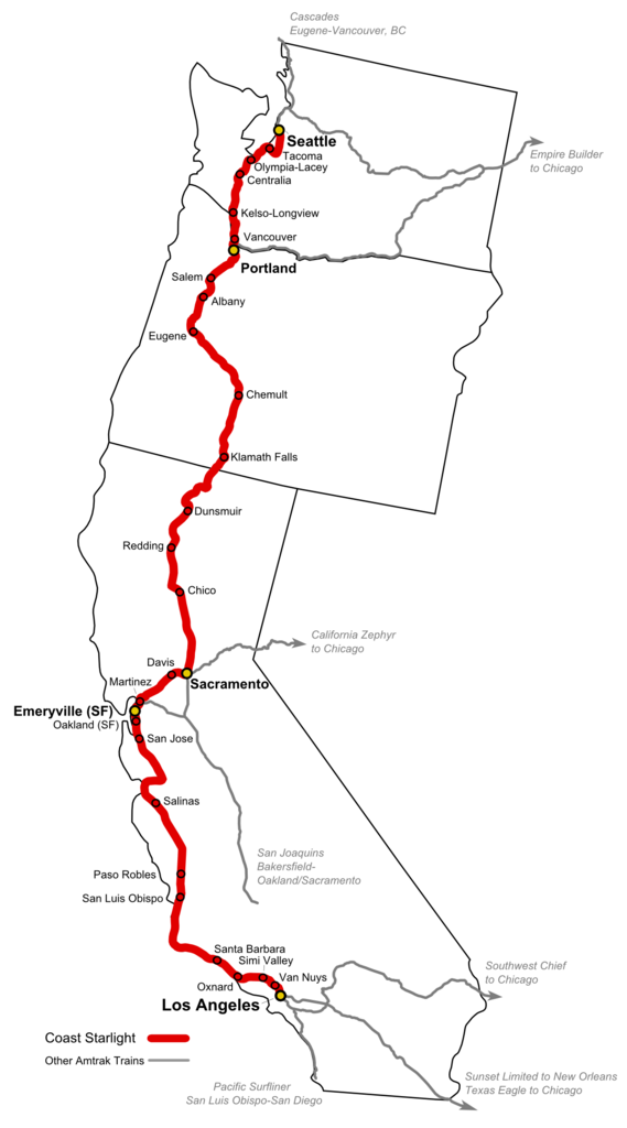 CoastStarlightRouteMap I Ll Route Map Amtrak on amtrak silver star route, caltrain map, amtrak texas eagle route, amtrak eastern corridor, amtrak california map, amtrak us map, amtrak routes in east us, amtrak map of united states, amtrakconnect map, amtrak rail reservations, amtrak map florida, amtrak track map, amtrak national map, maine railroad map, amtrak tickets, amtrak logo, amtrak southwest chief, amtrak genesis, amtrak live map, amtrak train,
