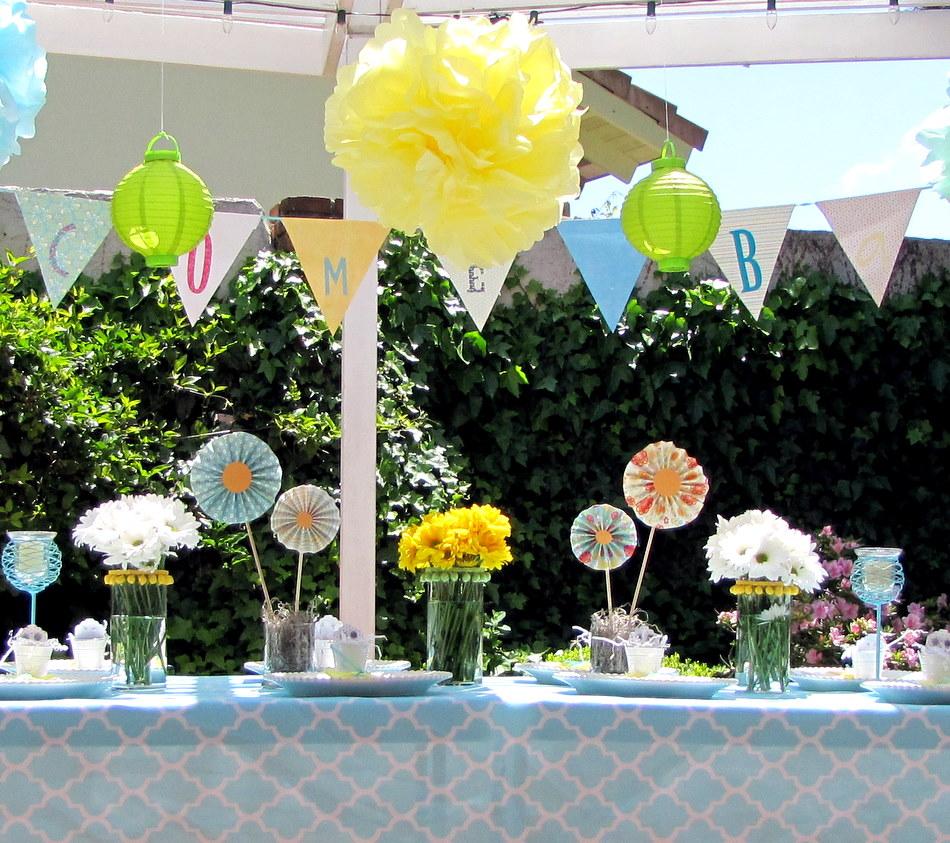 Garden Decoration Ideas: Garden Baby Shower Luncheon