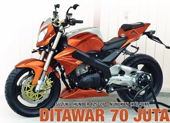 Displayer Big Motorcycle: MODIFIKASI Suzuki Thunder 125 '07