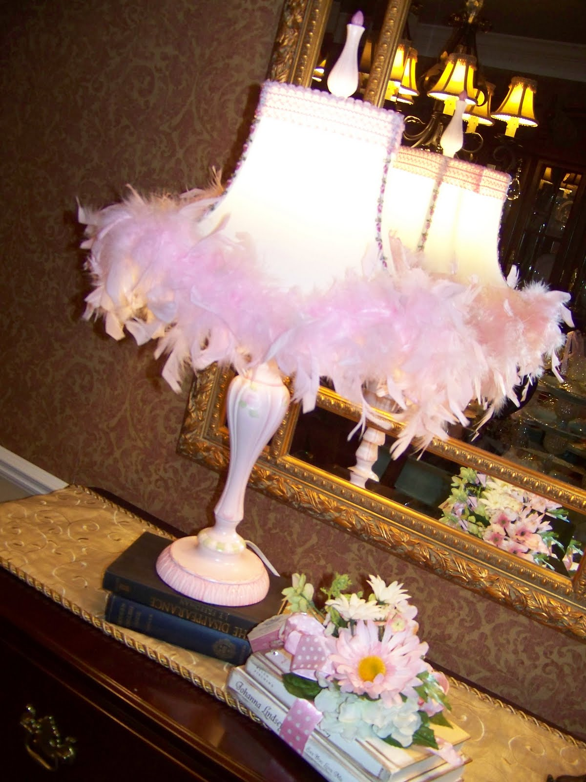 Creations From My Heart A Feathered Lampshade