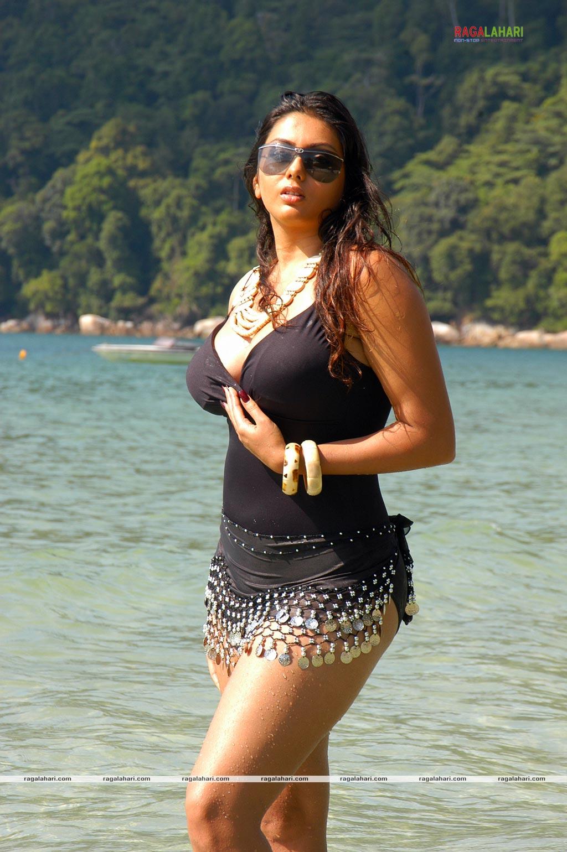 Naked Ebony On Beach