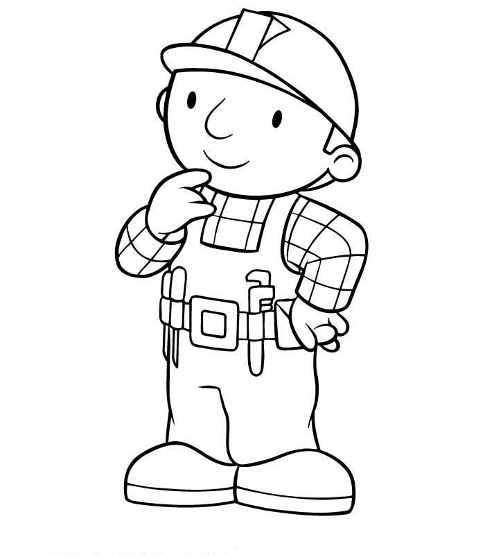 Desenhos De Bob, O Construtor Para Colorir