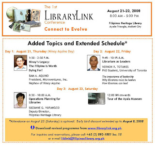 1st LibraryLink Conference: Connect to Evolve!