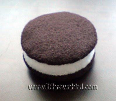 Step12 - Biscoito Oreo de feltro