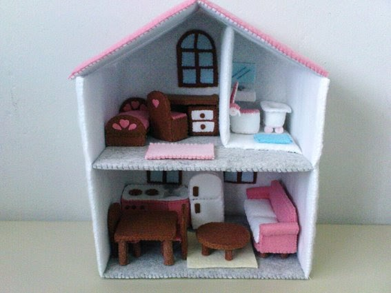 Lit 39 l brown bird 39 s dreams felt dollhouse miniature - Bbs dollhouse ...
