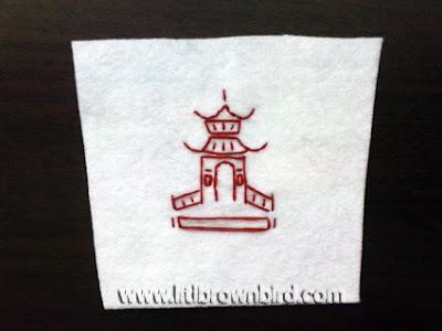 DSC08967 - Caixinha para comida japonesa em feltro