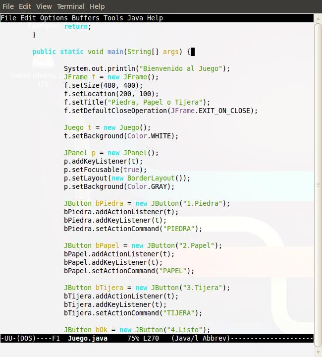 Lenguajes De Programacion Un Juego En Java