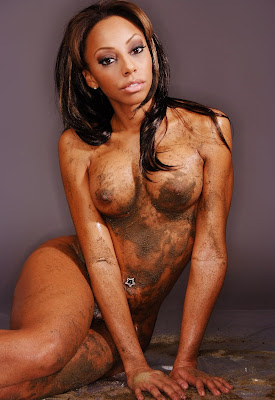 Ebony naked redhair