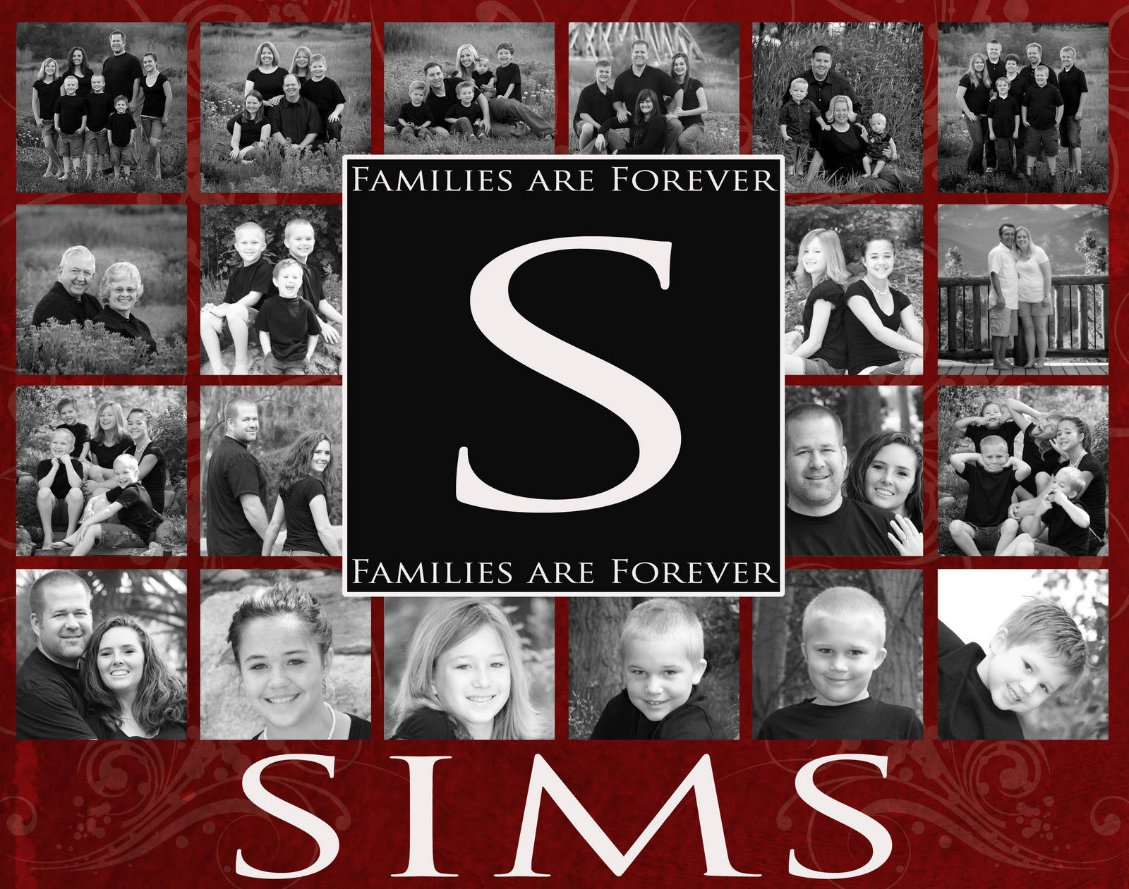 New Large Family Photo Collage Templates