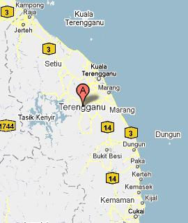 Image result for peta negeri terengganu jalan pantai