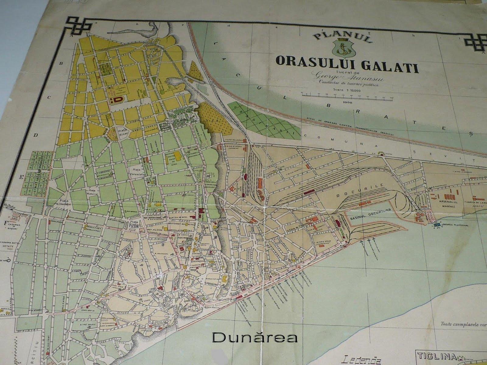 Valurile Dunării O Harta Veche A Orasului Galati