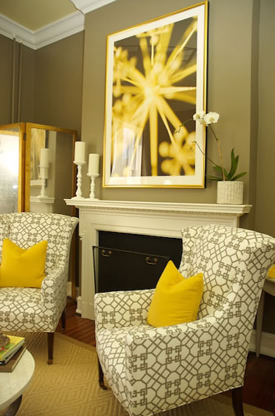 Living Room Colours To Match Grey Sofa Retro Sets Notes From Pembroke Hall: + Yellow