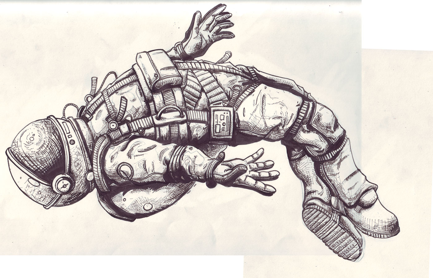 astronaut space drawing - photo #22