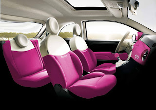 A new trend, animal print interior for pink cars