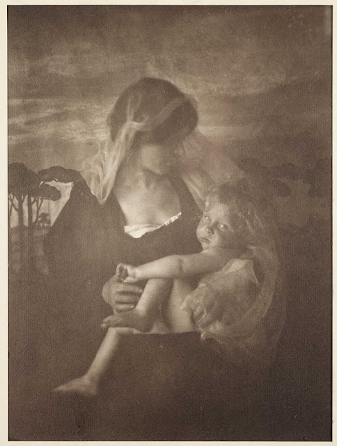 The Awakening'. Emma Barton (1872-1938); Carbon. Collection of National Media Museum. Emma Barton received the Royal Photographic Society Medal in 1903 for this photograph. photography-news.com, photography news, Diana Topan, International Children's Day, June 1, vintage baby photos